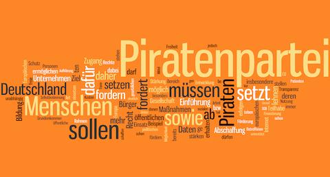 wortwolke Wahlprogramm Piraten 2013 klein
