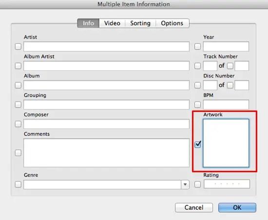 Remove iTunes Artwork