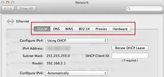 Network Settings screenshot