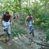 Frank Z and Chris Martados heading into the trees.