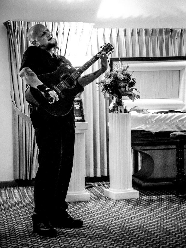 John Ciotti sings in memory of his friend, Greg Antczak, 10-23-2014.