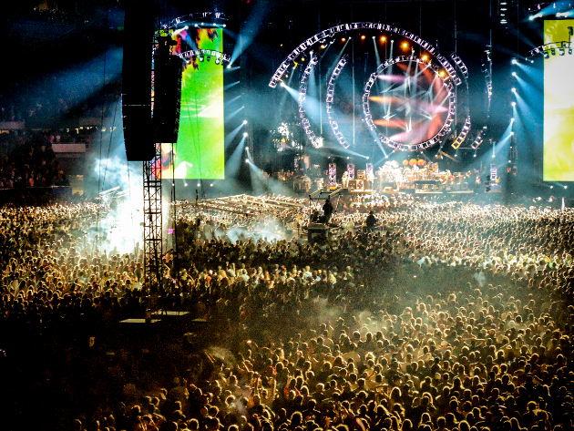 View of the crowd during the last Grateful Dead show