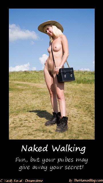 Hair Coloring Naked Walking Rambler Demotivational Posters