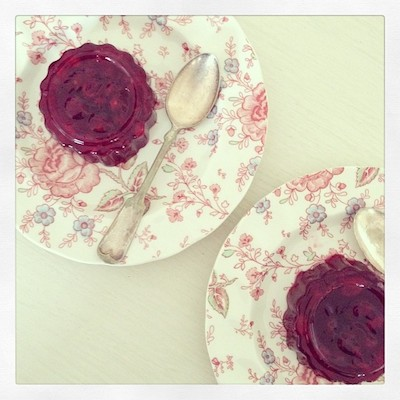 gelatina de cranberry