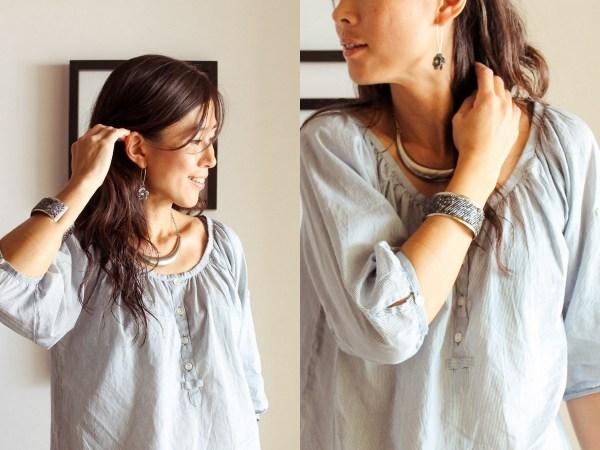 azure navy shirt