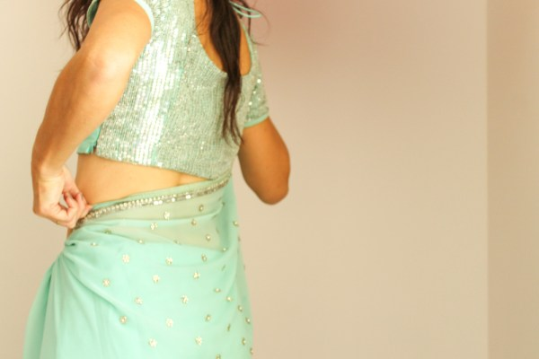 how to wear a saree-6