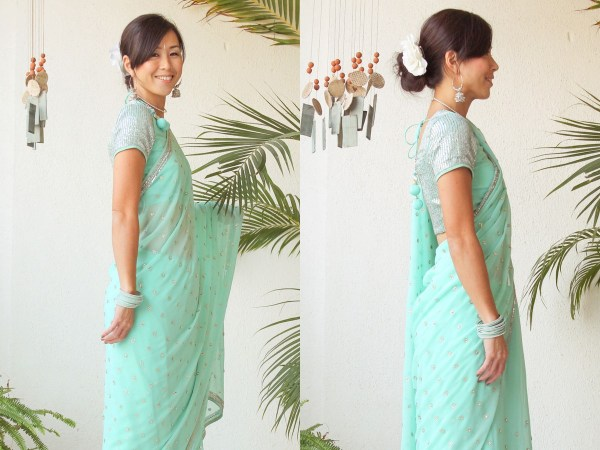 Mint Green Saree e2