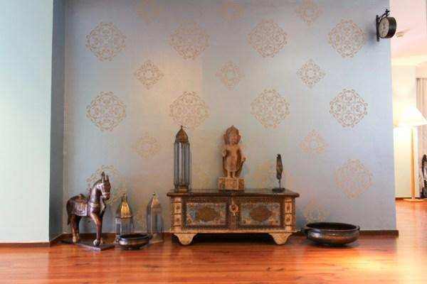 Tiffany Blue & Indian Design Stencils