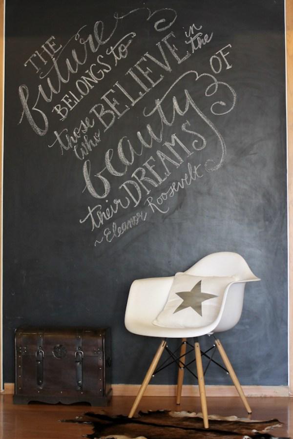 Chalkboard Eleanor Roosevelt