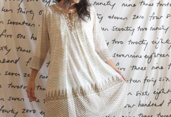 Global Desi Gold Dress-8
