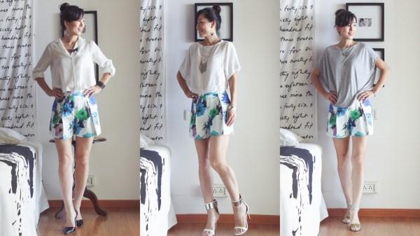 Zara Flower Print Shorts