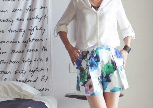 Zara Flower Print Shorts2