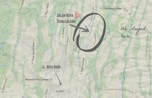Jalan Raya Tegallalang Map