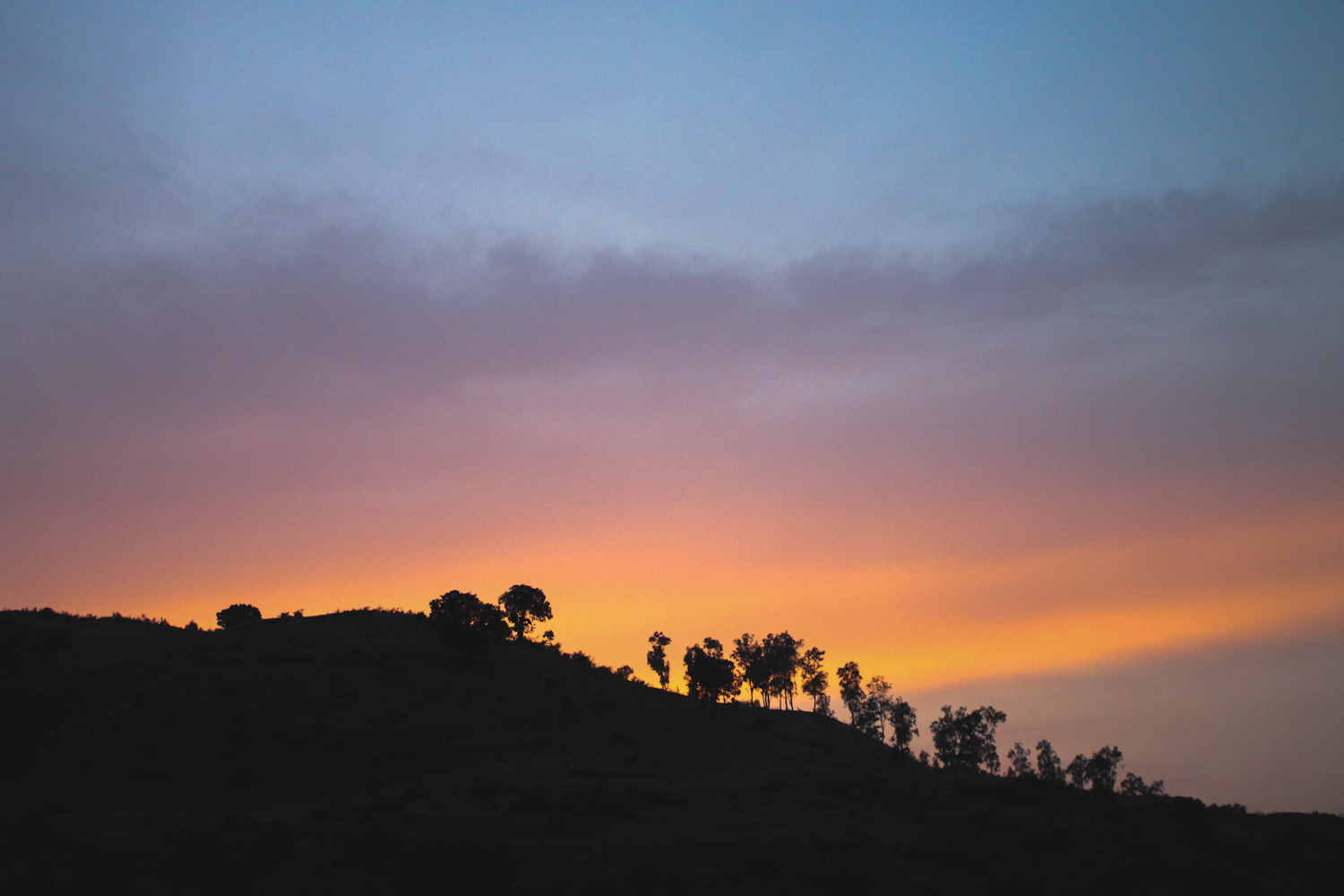 Sunset near Nashik