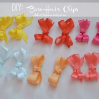 DIY: Baby Bow Hair Clips