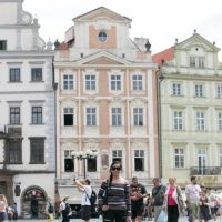 Prague, Czech Republic / Old Town Square, Tyn Church and The Astronomical Clock