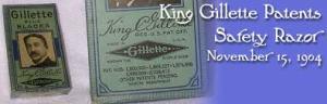 King Gillette patente