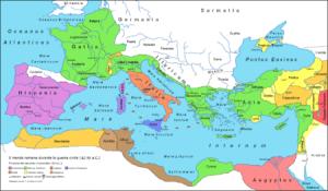 Roma en el 42 antes de Cristo, después de la Batalla de Filipos.