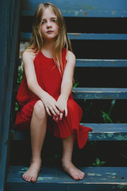 Sydney photographer - girl with a red dress