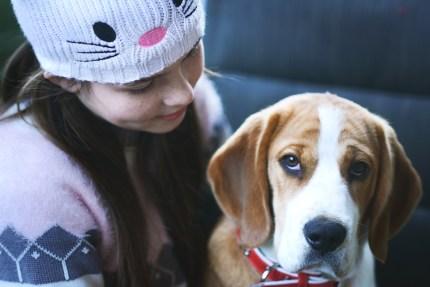 sydneyphotographer-girl with a dog