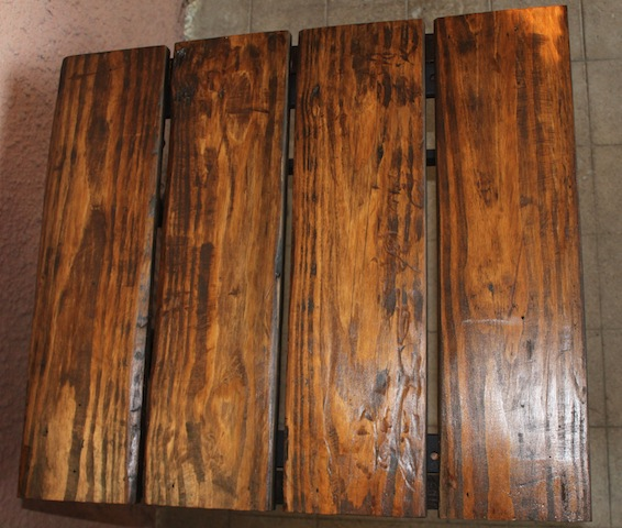 stained table top
