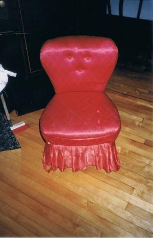 BEFORE: Old Slipper Chair
