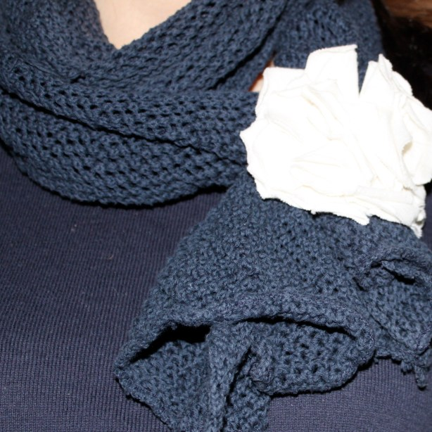 fabric scarf flower