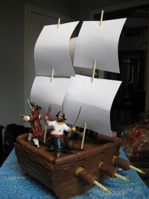 Pirate Ship Cake