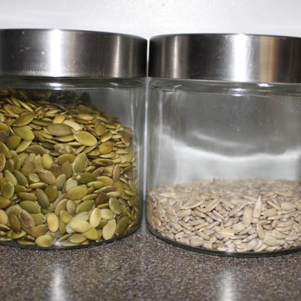 pumpkin and sunflower seeds