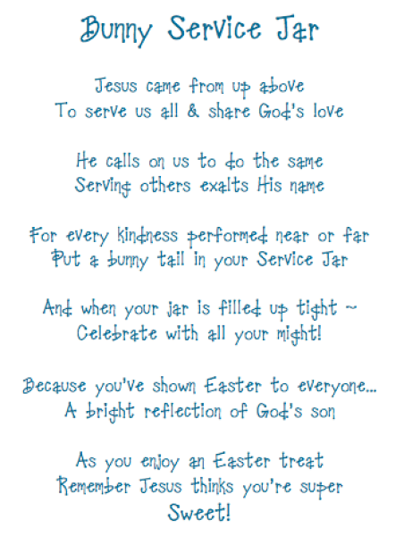 Modified Bunny Service Jar Poem