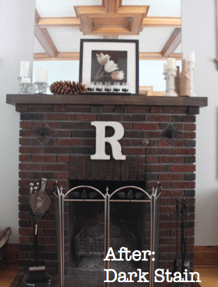 Mantel with Dark Stain