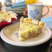 Beef and Cheese Quiche #TheRecipeReDux