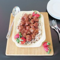 Strawberry BBQ Meatballs #SundaySupper #FLStrawberry