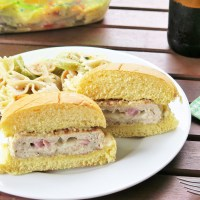 Chicken Cordon Bleu Burgers #SundaySupper