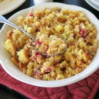 Cranberry Cornbread Stuffing #CranberryWeek