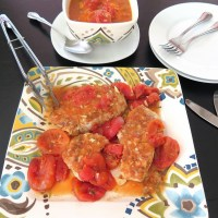 Braised Orange Tomato Pork Chops #SundaySupper