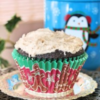 Chocolate Gingerbread Cupcakes #NationalCupcakeDay