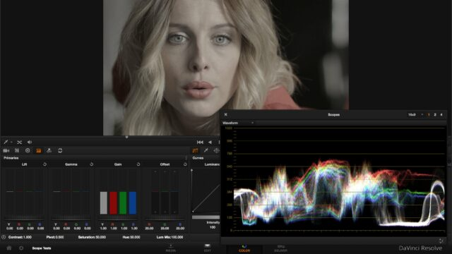 using scopes to match shots in a scene
