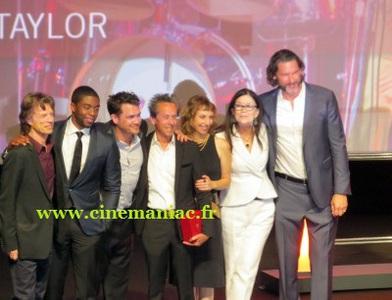 """Mick Jagger et l'équipe de """"Get on up"""" au CID"""