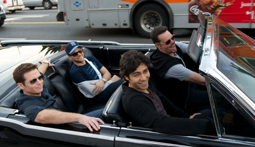 """(L-r) Kevin Connolly, Jerry Ferrera, Adrien Grenier and Kevin Dillon star in Warner Bros. Pictures' """"Entourage"""""""