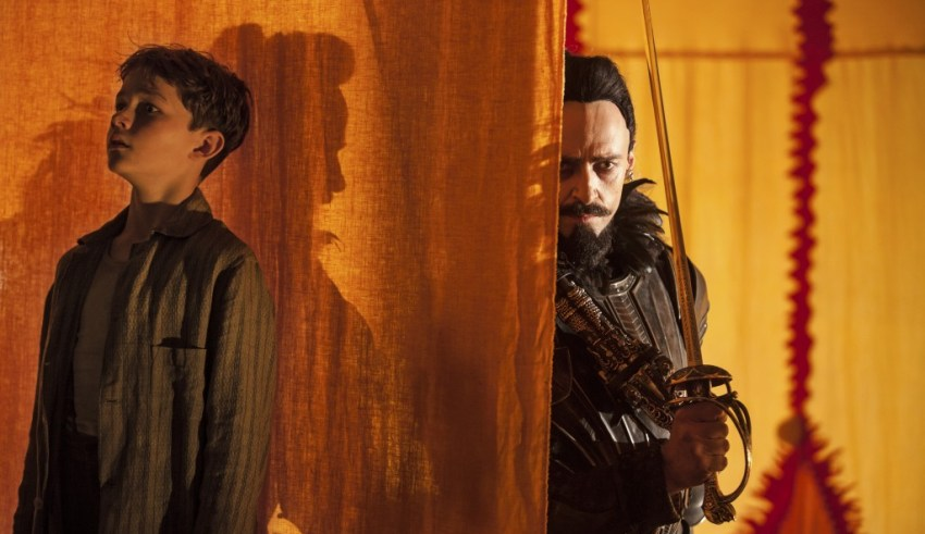 "Levi Miller and Hugh Jackman star in Warner Bros. Pictures' ""Pan"""