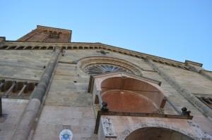 Piacenza, il Duomo, facciata anteriore