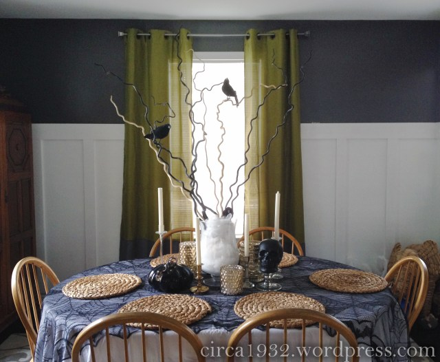 halloween tablescape overview