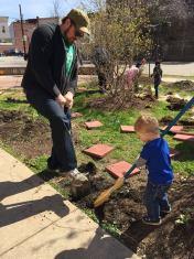 circle of hope volunteers at school spring clean up