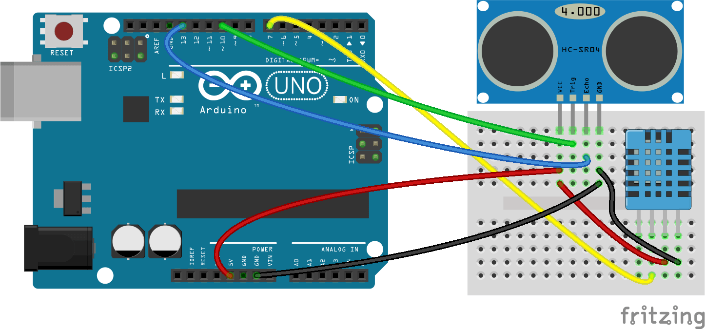 How to set up an ultrasonic range finder on arduino