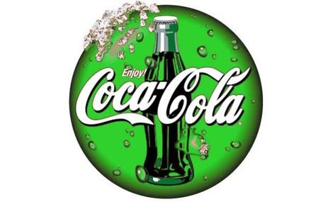 Lattine green per Coca Cola