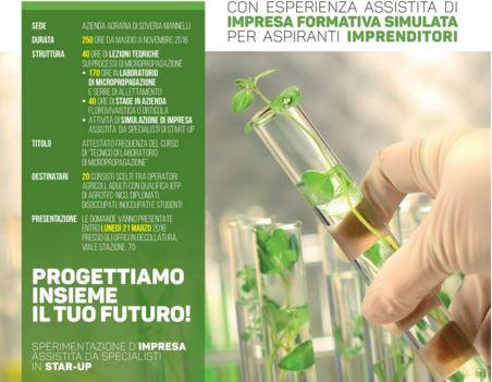 """Nasce """"Tecnici di Micropropagazione"""", il Corso per la Riproduzione di Piante Rare. Obiettivo: Incentivare Startup nell' Agribusiness"""