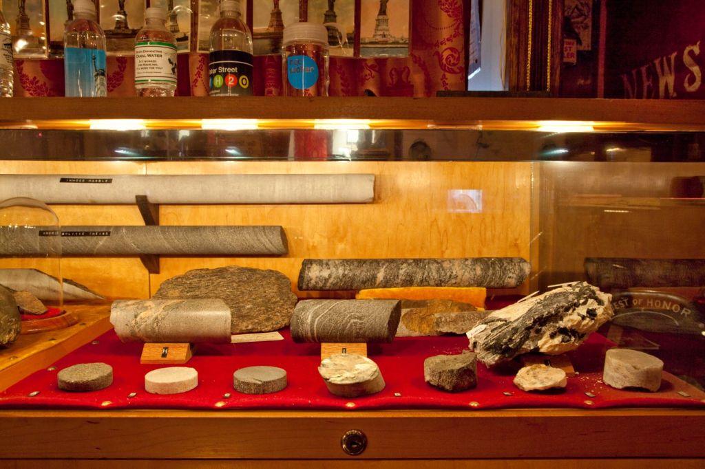 The City Reliquary's Geology of New York exhibit (samples courtesy Nik Sokol).