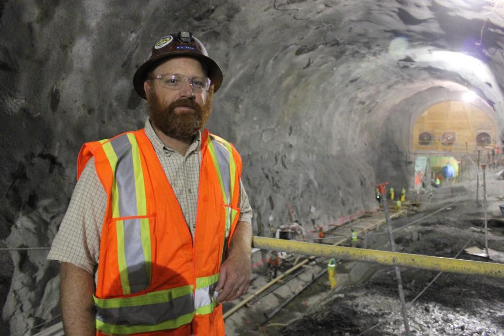Nik Sokol underground at the 2nd Avenue subway excavation