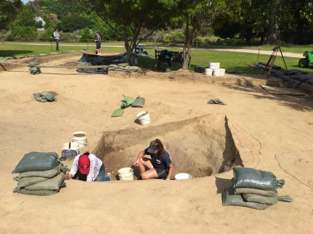Archaeological dig site.